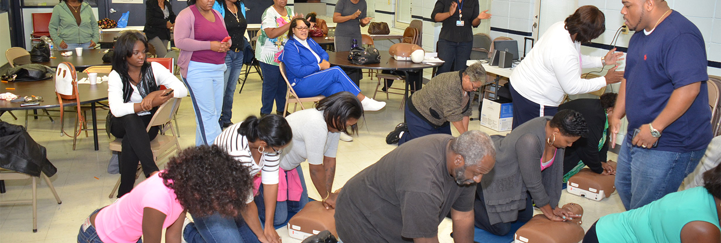 Strategic Initiatives and Community Health Improvements sponsors activities such as CPR classes.