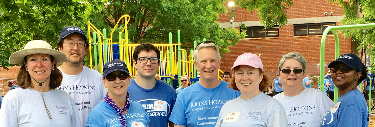 Government and Community Affairs staff at a KaBOOM! Playground build.