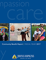 Title page of Community Benefit Report does not open to report