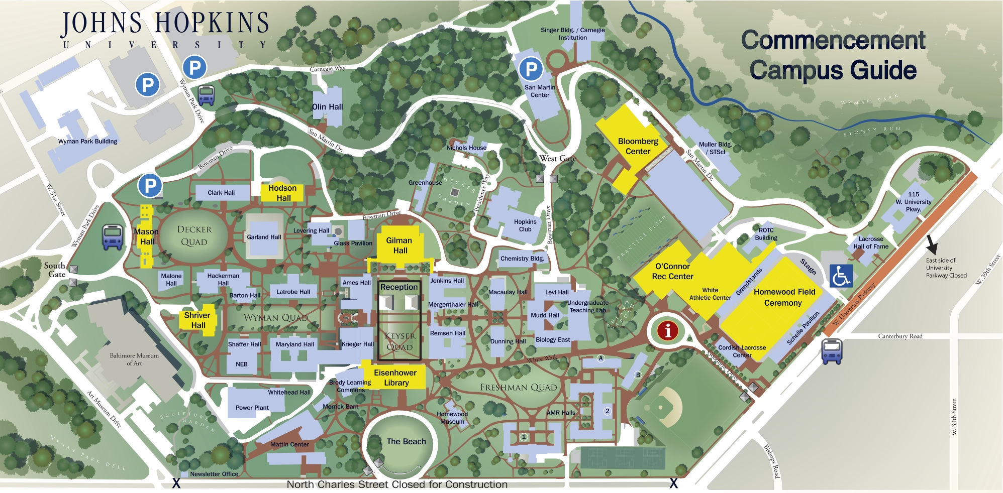 Johns Hopkins Campus Map Jhu Campus Map | States Maps