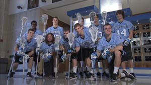 Members of the men's lacrosse team